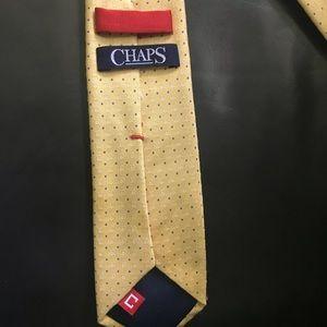 Chaps Accessories - Men's Chaps Yellow Blue Dot Tie